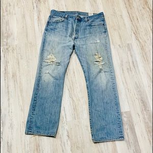Levi's Jeans - Heavily Distressed Levi's 501